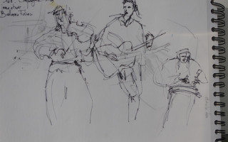 Musiciens Brest - croquis